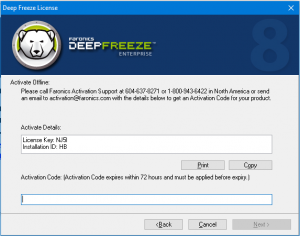 Deep Freeze Keygen