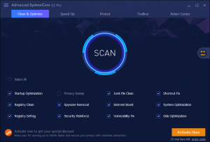 Advanced SystemCare Pro 12.2.0.315 Crack Keygen Activation Free